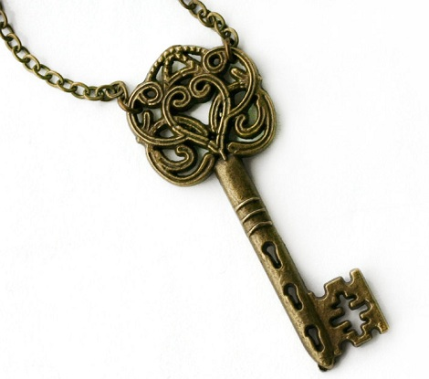 Skeleton Key Style Locket