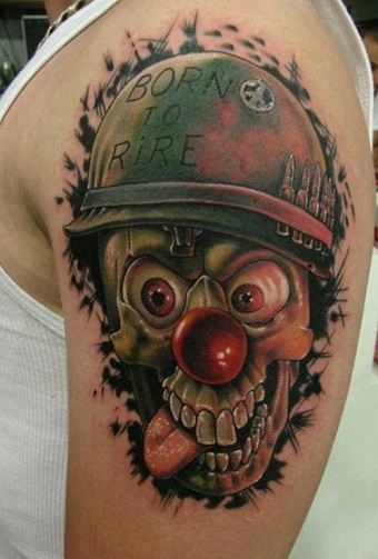 100 evil clown skull tattoo drawing drawn clown jester pencil and in color drawn clown. Black Bedroom Furniture Sets. Home Design Ideas