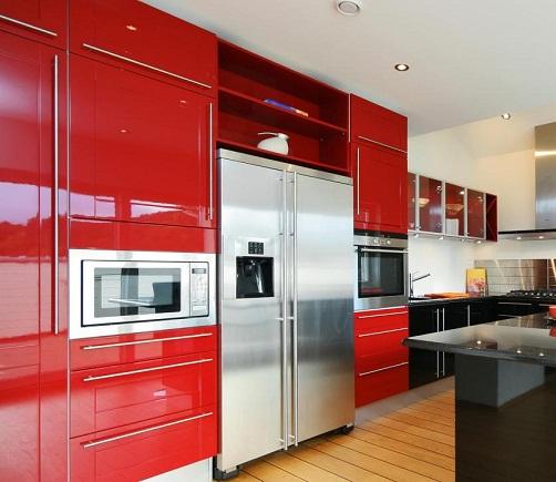 Sleek kitchen cabinets