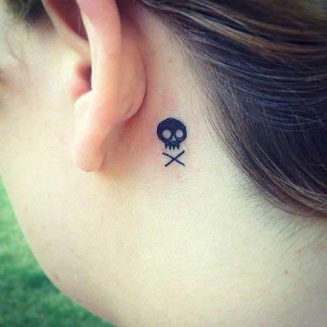 Small Crossbones tattoo
