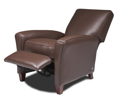 small reclier leather chair