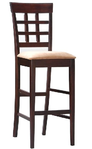 Solid Backrest Bar Chairs