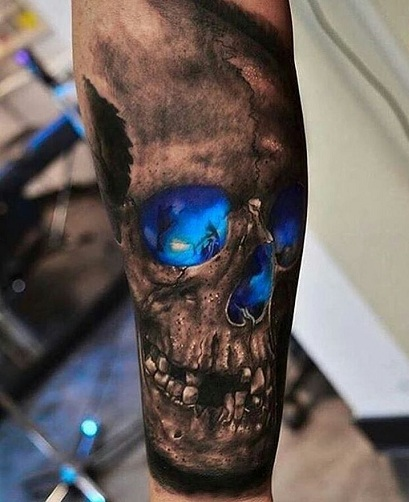 Sparkling Ghost Tattoo Images