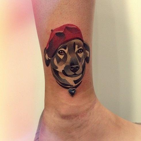 Special portrait red tattoo design