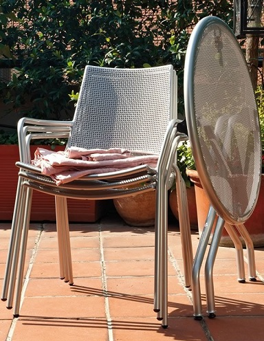Stackable Armrest Chairs for Outdoor