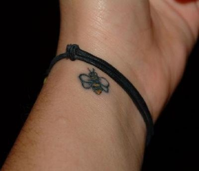 Stylish Small Bee Tattoo Design