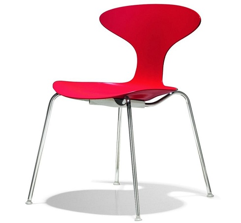 Stylish Stacking Chair in Red