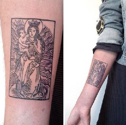 Tarot card tattoos design