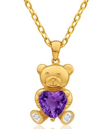 Teddy Bear Style Children's Lockets