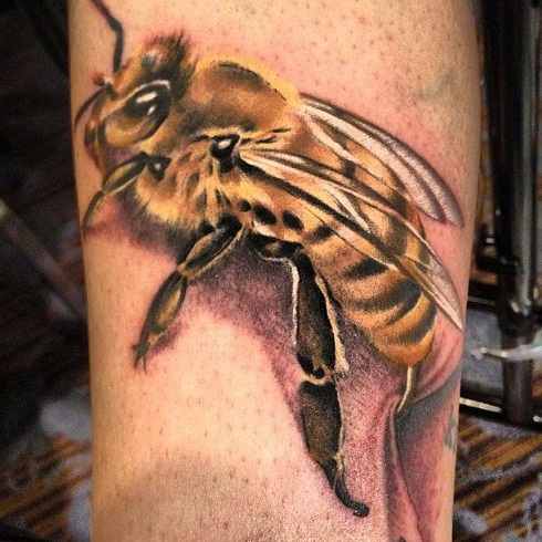 Terrific Bee Tattoo Design