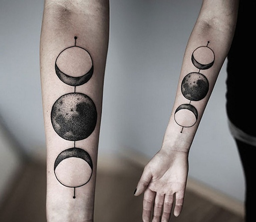The Moon Cosmic Tattoo