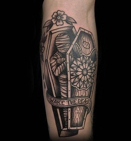 The Mummy coffin tattoo