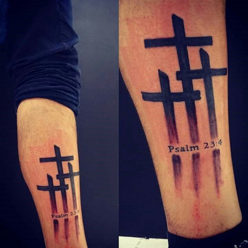 pictures of cross tattoos