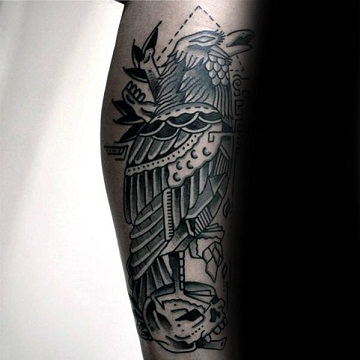 Traditional Crow Tattoo designs