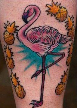 Eye catching Flamingo Tattoos
