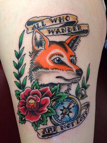 Traditional fox tattoo designs