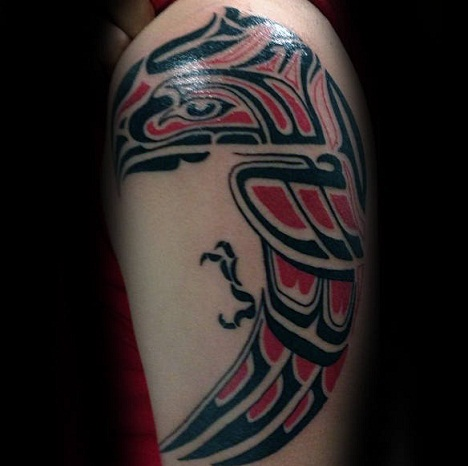 Tribal Bird Eagle Tattoo