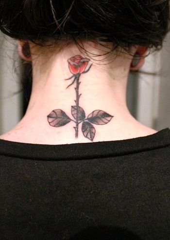 Tribal Delicate Rose Tattoo