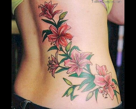 Tribal Flower Garland style Tattoo