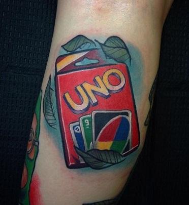 UNO card tattoos design