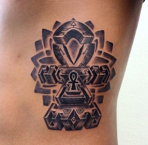 Unique Ankh Tattoo Design