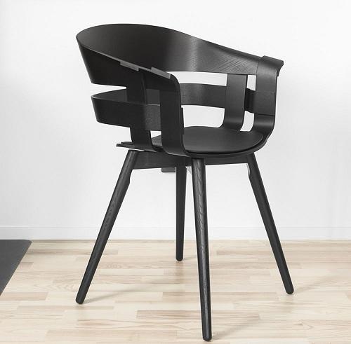 Veneered Wood Seat Restaurant Chair