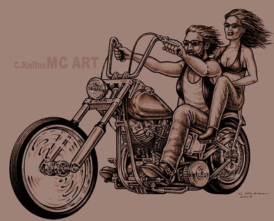 Vintage Biker Tattoos Design