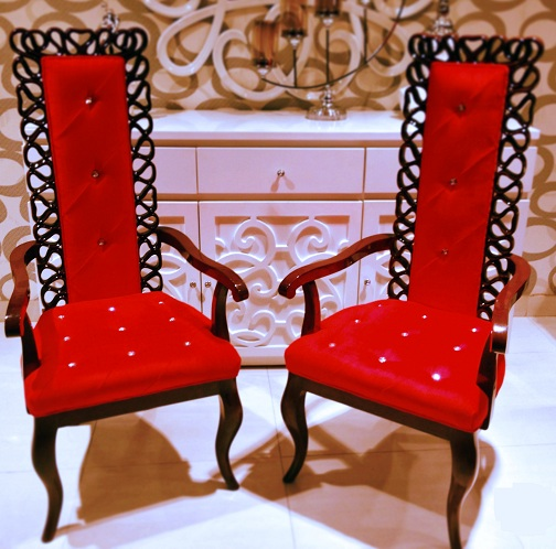 Vintage High Back Bedroom Chairs