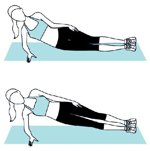 Waist Stretching – Plank Posture