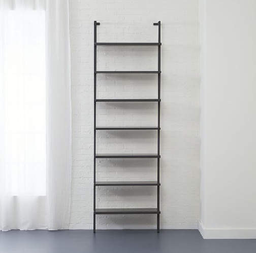 Wall Mounted Hall Shelf in a Stairway Fashion