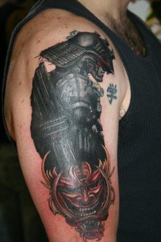 Warrior Focus Tribal Arm Tattoo