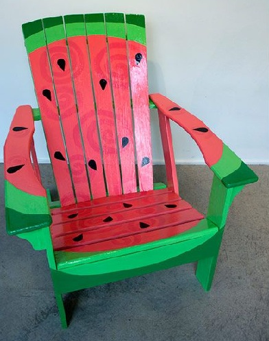 Watermelon Printed Deck Chairs