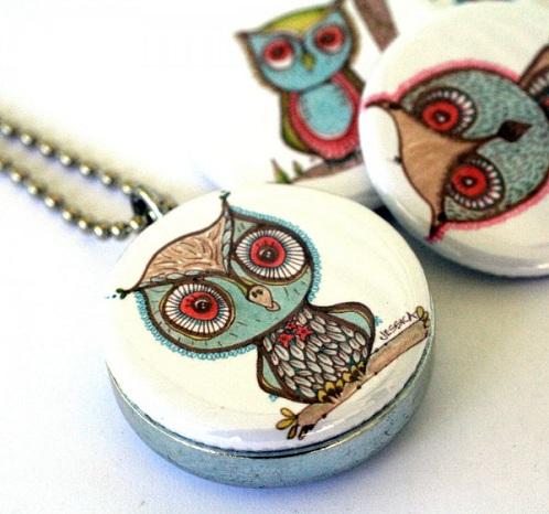Whimsical Owl Locke