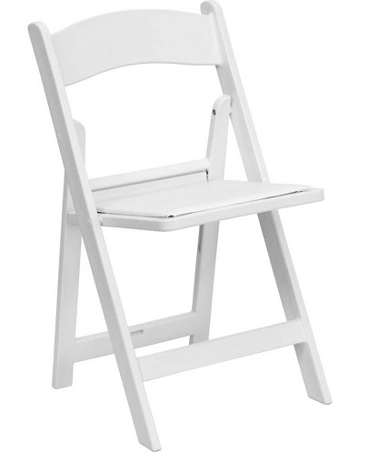 White Leather Folding Chairs