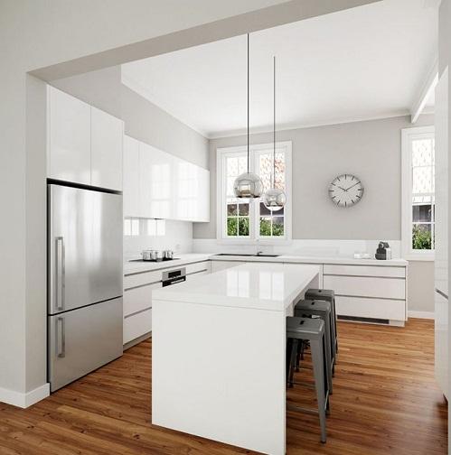 White theme classic design kitchen