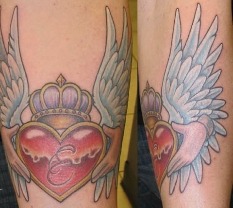 Wing Claddagh tattoo design