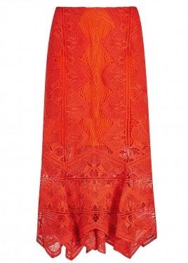 Women's Designer Red Long Skirt2