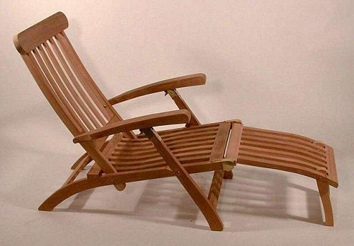 Wooden Lounge Deck Chair