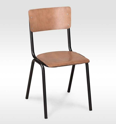 Wooden Seat School Chair