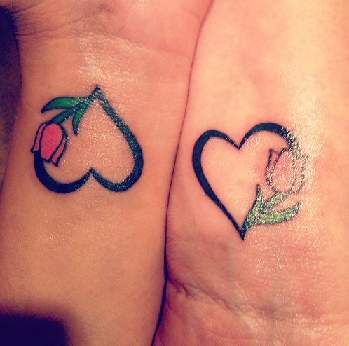 15 Heart Touching Mother Daughter Tattoos - Adorable Mother Daughter Tattoo Design