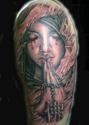 Angle Mary Tattoos