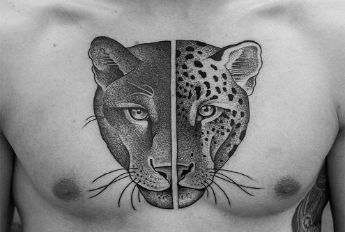 Animal Dot Work Tattoo