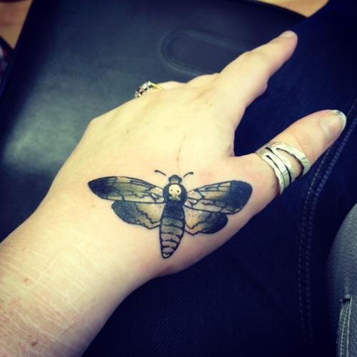 Appealing Moth Tattoo Design