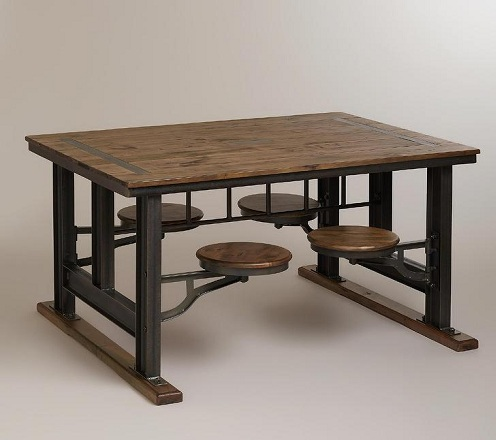 Attached Dining Table Chair