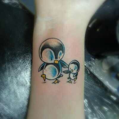 Budding Penguin Tattoo