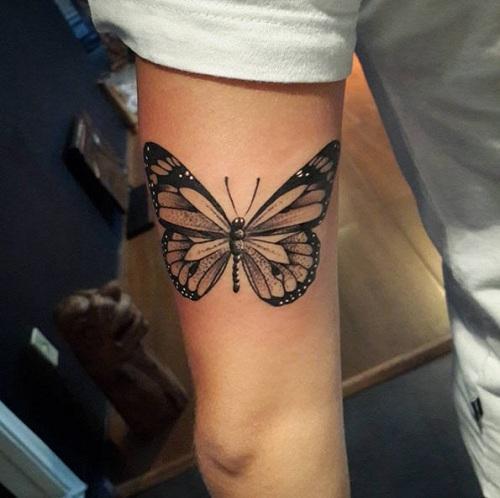 Butterfly Art Dot Work Tattoo