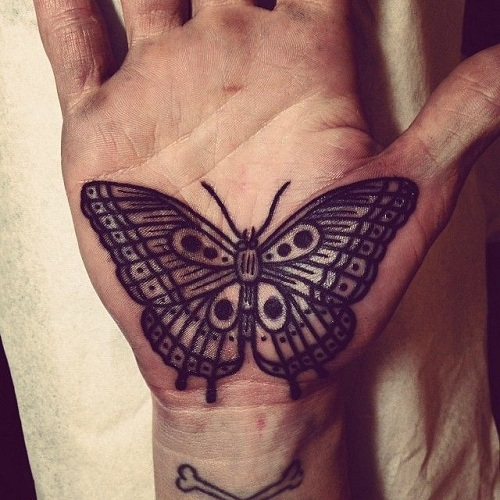 Butterfly Tattoo On Palm