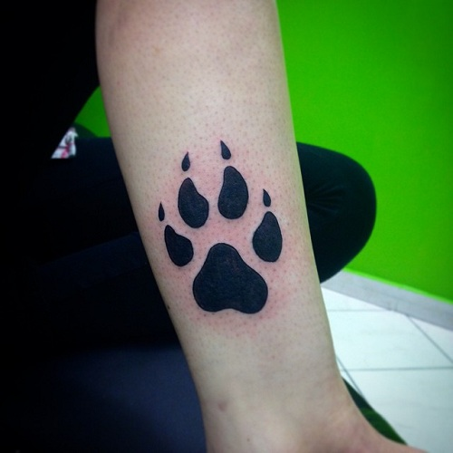 03512779a 15 Coolest & Unusual Paw Print Tattoo Designs