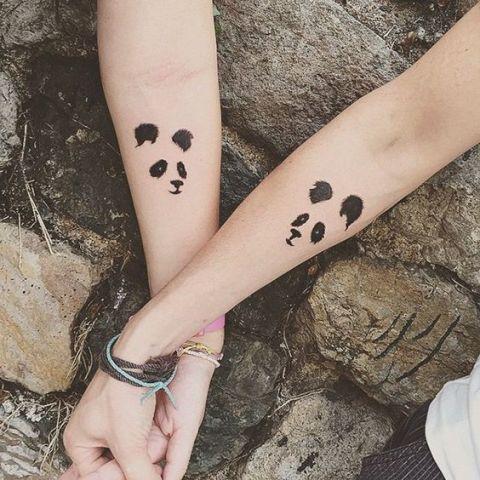 Couple Panda Tattoo