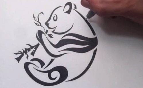 Creative Panda Tattoo